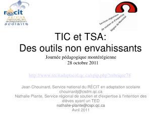 TIC et TSA:  Des outils non envahissants