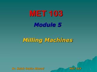 MET 103