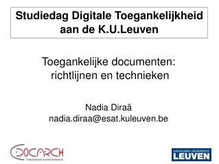 Studiedag Digitale Toegankelijkheid aan de K.U.Leuven