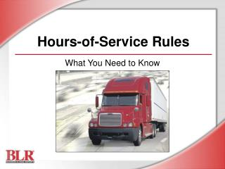 Hours-of-Service Rules