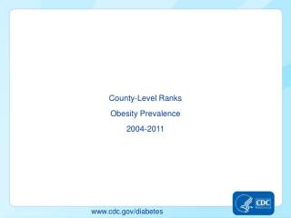 County-Level Ranks Obesity Prevalence 2004-2011