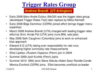 Trigger Rates Group