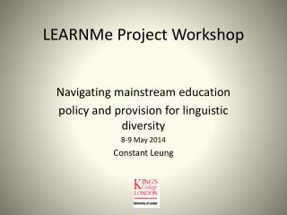LEARNMe  Project Workshop