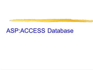 ASP:ACCESS Database