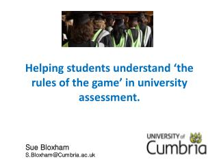 Helping students understand 'the rules of the game' in university assessment.