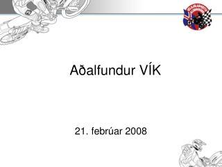Aðalfundur VÍK