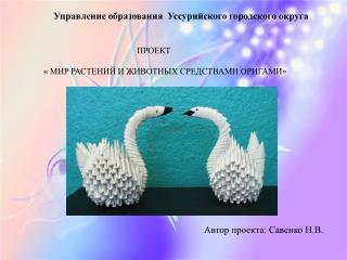 Управление образования  Уссурийского городского округа ПРОЕКТ