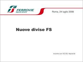 Nuove divise FS
