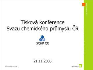Tisková konference Svazu chemického průmyslu ČR