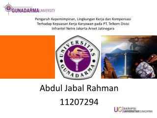 Abdul  Jabal Rahman 11207294