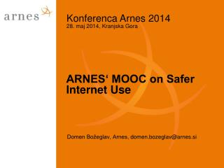 ARNES' MOOC on Safer Internet Use