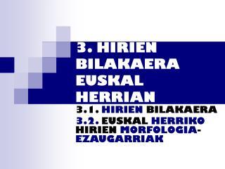 3. HIRIEN BILAKAERA EUSKAL HERRIAN