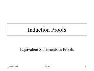 Induction Proofs