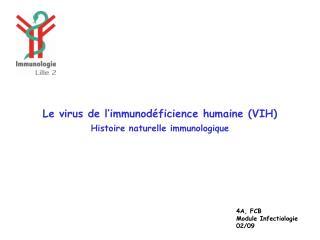 Le virus de l�immunod�ficience humaine (VIH) Histoire naturelle immunologique