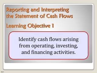 Reporting and Interpreting the Statement of Cash Flows Learning Objective 1