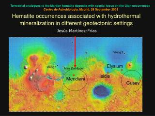 Terrestrial analogues to the Martian hematite deposits with special focus on the Utah occurrences