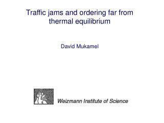 Traffic jams and ordering far from thermal equilibrium David Mukamel