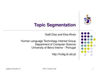 Topic Segmentation