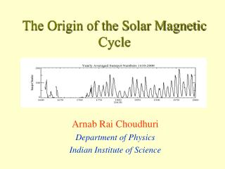 The Origin of the Solar Magnetic Cycle