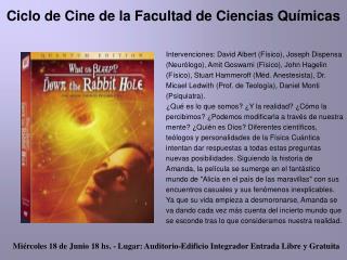 Ciclo de Cine de la Facultad de Ciencias Químicas