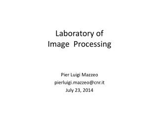 Laboratory of Image  Processing