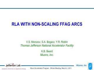 RLA WITH NON-SCALING FFAG ARCS