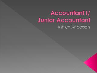 Accountant I/ Junior Accountant