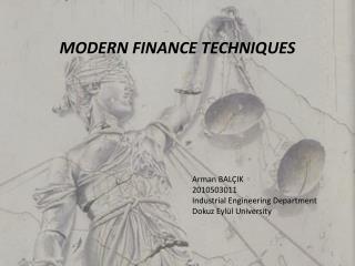 Modern finance techniques