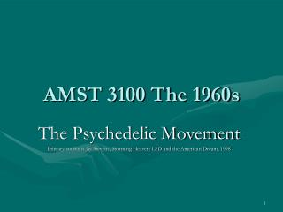AMST 3100 The 1960s