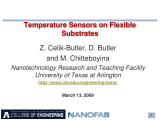 Temperature Sensors on Flexible Substrates