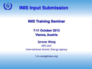 INIS Input Submission