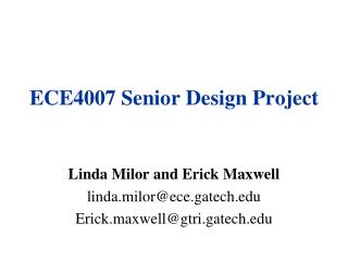 ECE4007 Senior Design Project