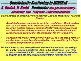 -------Quasielastic Scattering in MINERvA -------