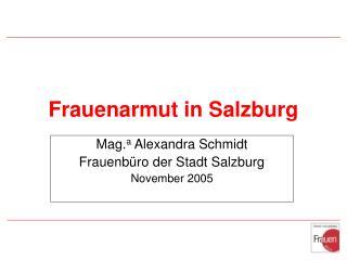 Frauenarmut in Salzburg