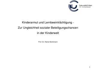 Kinderarmut und Lernbeeinträchtigung - Zur Ungleichheit sozialer Beteiligungschancen