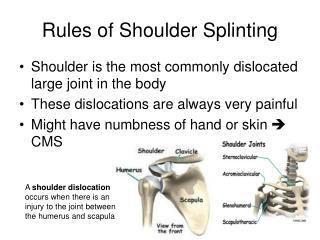 Rules of Shoulder Splinting
