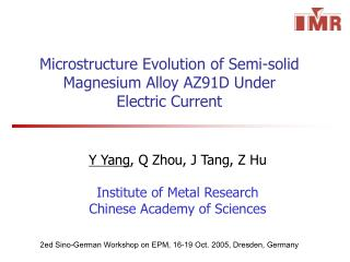 Microstructure Evolution of Semi-solid Magnesium Alloy AZ91D Under Electric Current