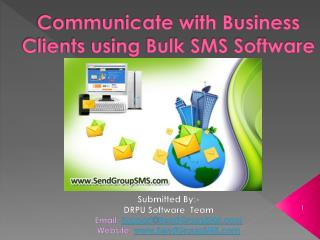 Communicate with Business Clients using Bulk SMS Software
