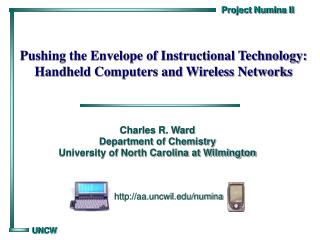 Pushing the Envelope of Instructional Technology: Handheld Computers and Wireless Networks