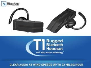 T1: Rugged Bluetooth Headset with Wind Armour Technology