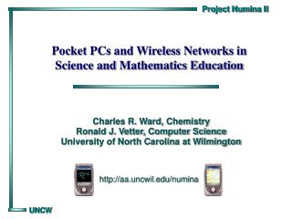 Pocket PCs and Wireless Networks in Science and Mathematics Education