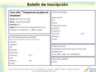"""Curso sobre """"""""Interpretacion de planos de armamento"""" Precio:  290 € (IVA incluido)"""