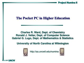 The Pocket PC in Higher Education