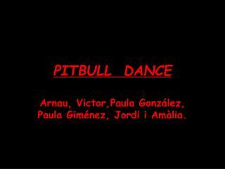 PITBULL  DANCE