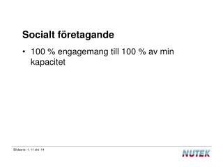 Socialt företagande