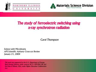 The study of ferroelectric switching using  x-ray synchrotron radiation