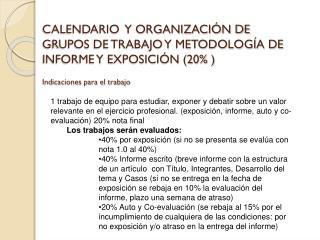 Calendario de presentación de trabajos : …  nuevas fechas