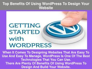 Top Benefits Of Using WordPress To Design Your Website