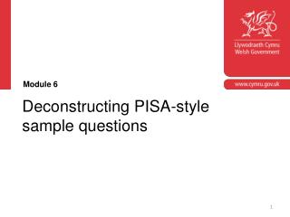 Deconstructing PISA-style sample questions