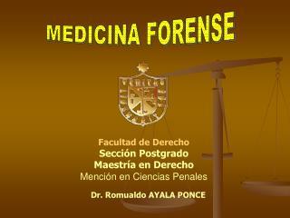 Facultad de Derecho  Sección Postgrado Maestría en Derecho Mención en Ciencias Penales